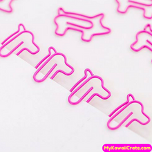 12 Pc Kawaii Pink Pig Paper Clips Bookmarks Page Marker