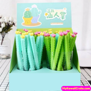 Kawaii Potted Cactus Gel Pen