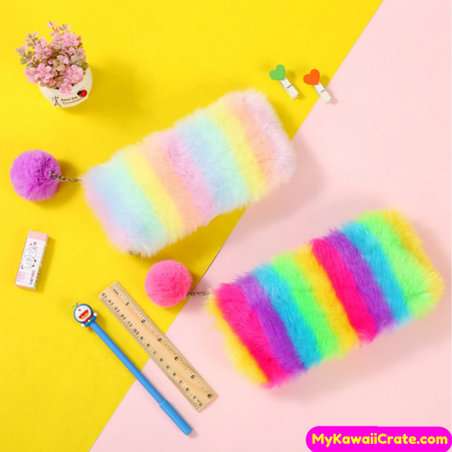 Kawaii Colorful Pencil Bag