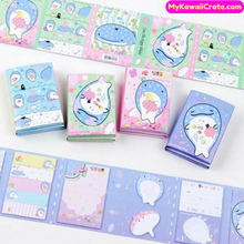 Kawaii Whale Shark Jinbe San Folding Memo Pad Sticky Notes