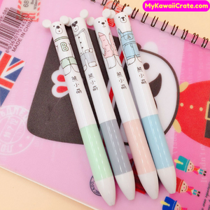 Kawaii White Bear Multifunction Ballpoint Pen + Mechanical Pencil 2 in 1