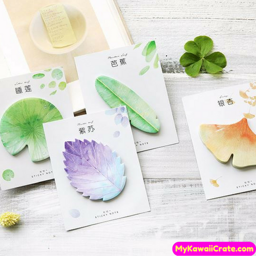 Autum Leaf Collection Sticky Notes / Self Adhesive Memo Notes