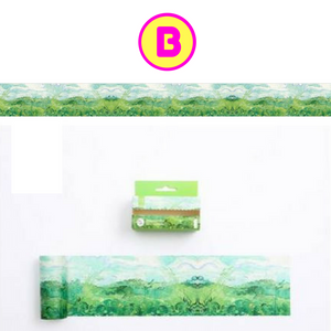 Leaves Grass Natural Decorative Wide Washi Tape / Masking Tape