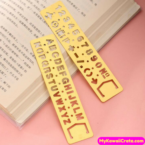 Letters Numbers Symbols Stencil Bookmark