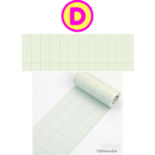 Creative Life Writing Tags Grids Frames 10cm Wide Washi Tape / Masking Tape
