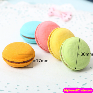 5 Pc Pack Kawaii Yummy Macaron Rubber Pencil Erasers