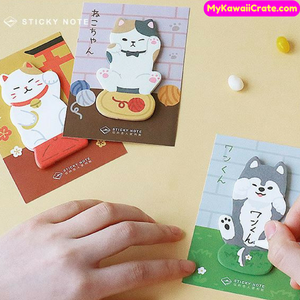 Meow Cat Hello Dog Sticky Notes