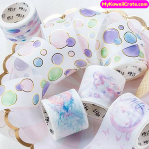 Mermaid Raindrop Gilding Bubbles Decorative Washi Tape / Masking Tape