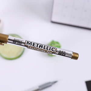 Golden & Silver Metallic Marker Craftwork Pen Set