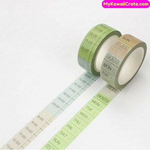 Military Date & Time Washi Tape / Masking Tape