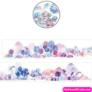 Mountain Forest Of Dreams Wide Washi Tape / Masking Tape