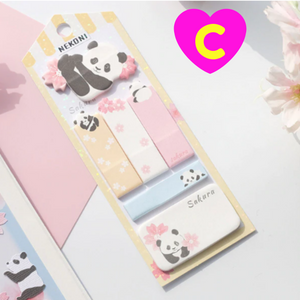 Nekoni Sakura Series Cute Animals Sticky Notes