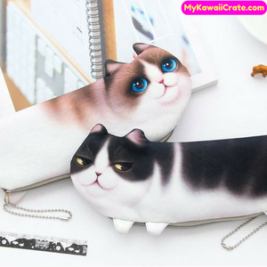 Kawaii Realistic 3D Cat Pencil Bag