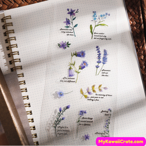 Purple Flower Stickers