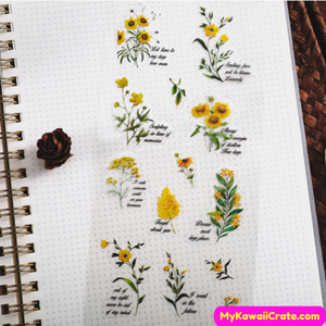 Yellow Flower Stickers