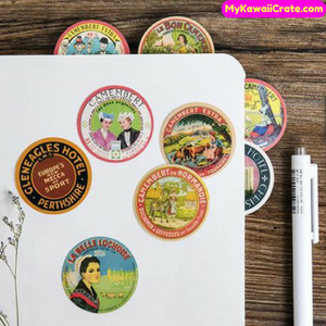 45 Pc Pk Retro Collection Record Decorative Stickers