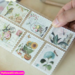 Retro Style Stamps Decorative Stickers