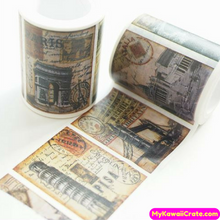 Retro Style Cities Postmark Wide Washi Tape / Masking Tape