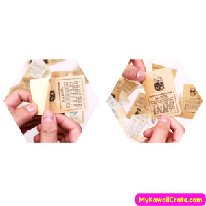 Retro Ticket Series Sticker Pack, Vintage Style Stickers