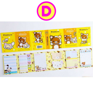 Rilakkuma Korilakkuma Folding Memo Notes & Sticky Notes