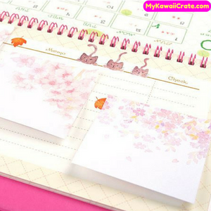 Romantic Japanese Sakura Cherry Blossom Flower Sticky Notes