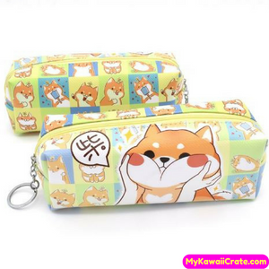 Shiba Inu Dog Chubby Cheeks Pencil Bag
