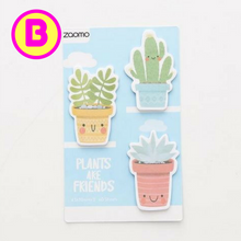 Smile Cactus and Plants are Friends Sticky Notes