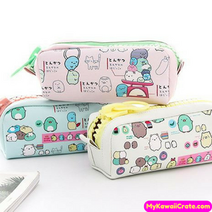 Kawaii Sumikko Gurashi Big Zipper Pencil Bag