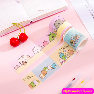 Cartoon Characters Washi Tape