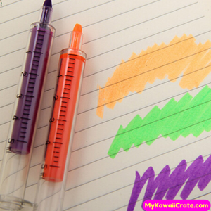 6 Pc Novelty Syringe Highlighters