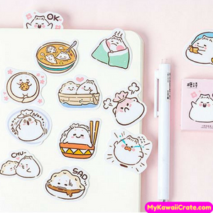45 Pc Pk The Life of a Dumpling Decorative Kawaii Mini Stickers