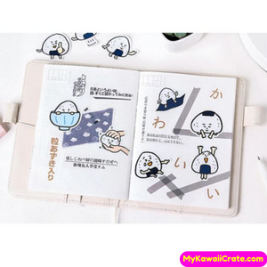 The Life of a Korean Kimbap Rice Triangle Decorative Stickers