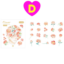 Thinking of Flowers Gilding Decorative Stickers