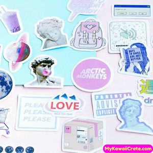 45 Pc Pack Kawaii Vaporwave Dream Decorative Stickers