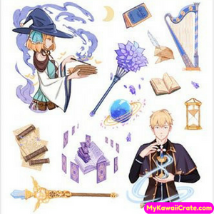 Wizard Magic Academy Decorative Stickers