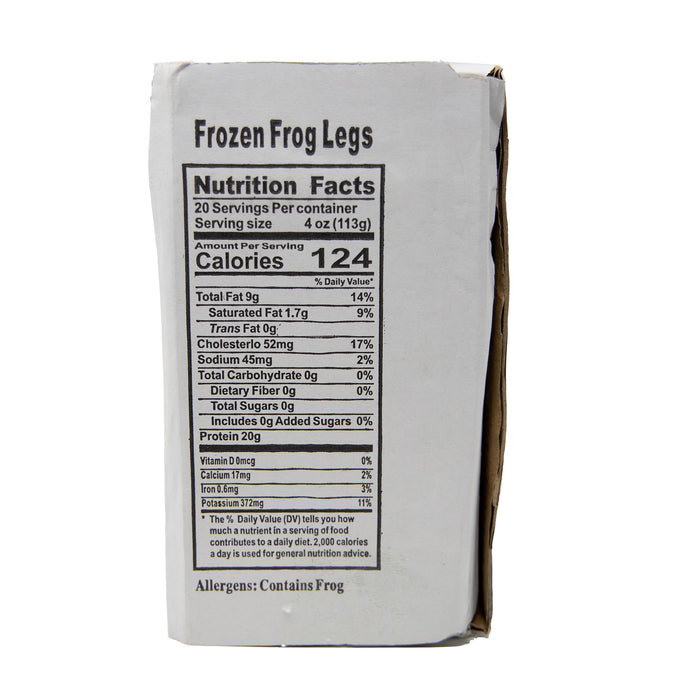 Frozen Farm Raised Frog Legs <br> 牛蛙腿 (5 lb)