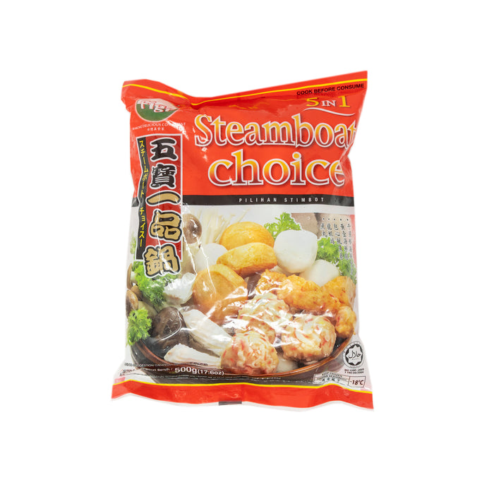 Steamboat Choice 5 in 1 Korean Fish Ball Mix <br> 五宝一品锅
