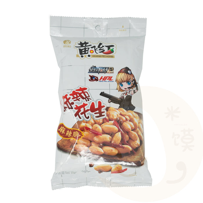 HUANG FEI HONG Spicy Peanuts <br> 黄飞红花生(210g)