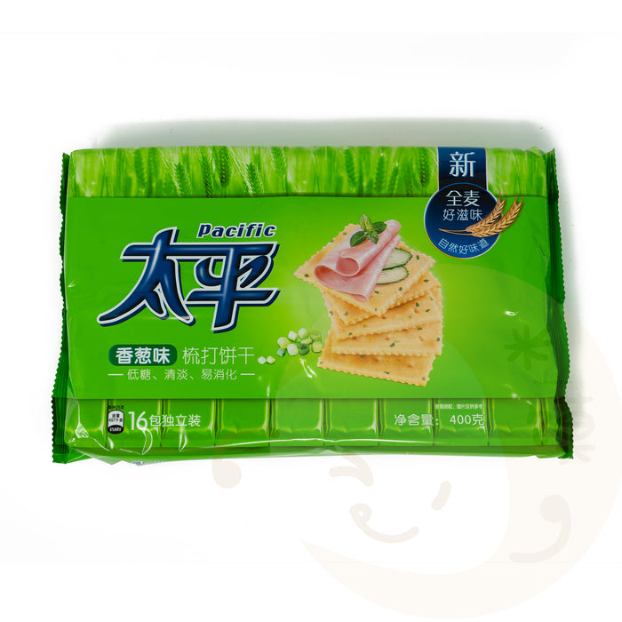 PACIFIC Soda Biscuit Shallot Flavor (16 Individual Small Pack) 太平香葱饼干