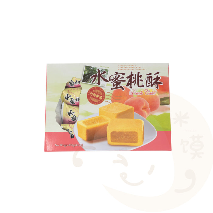 Peach Pie Stuffed Cake Taiwanese Snack <br> 水蜜桃酥