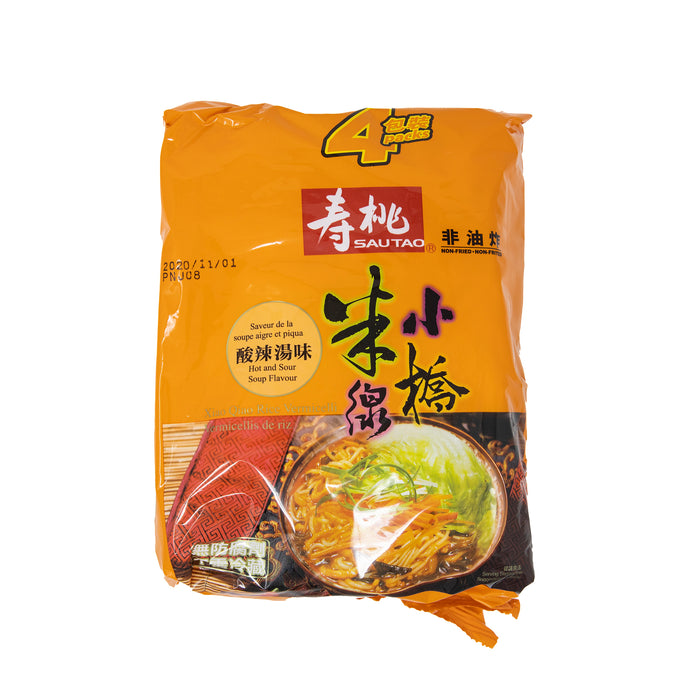 SAU TAO Xiao Qiao Rice Vermicelli Hot and Sour Vermicelli <br> 寿桃牌小桥米线(酸辣汤味)