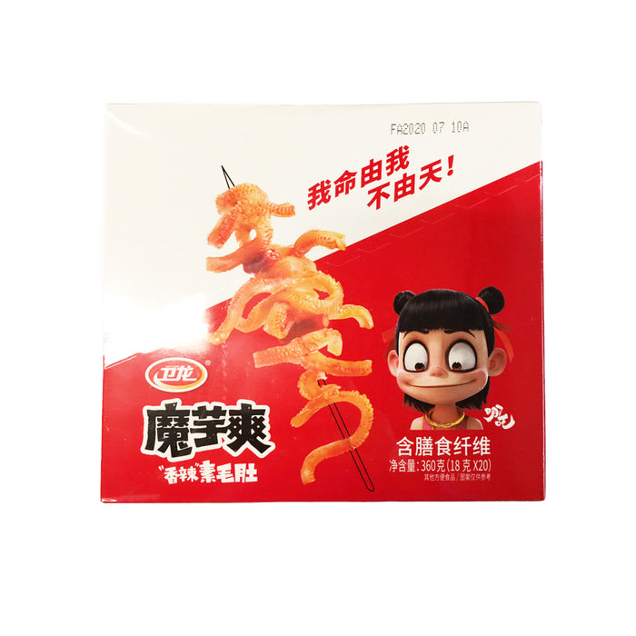 WEILONG Hot Konjac Spicy Flavor <br> 卫龙魔芋爽香辣素毛肚