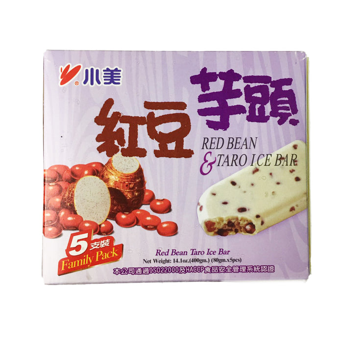 SHAO MEI Red Bean & Taro Ice Bar (5 Bars) <br> 小美红豆芋头雪糕 (五支入)