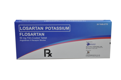 Losartan Potassium 50mg Film-Coated Tablet (Flosartan) by 30's