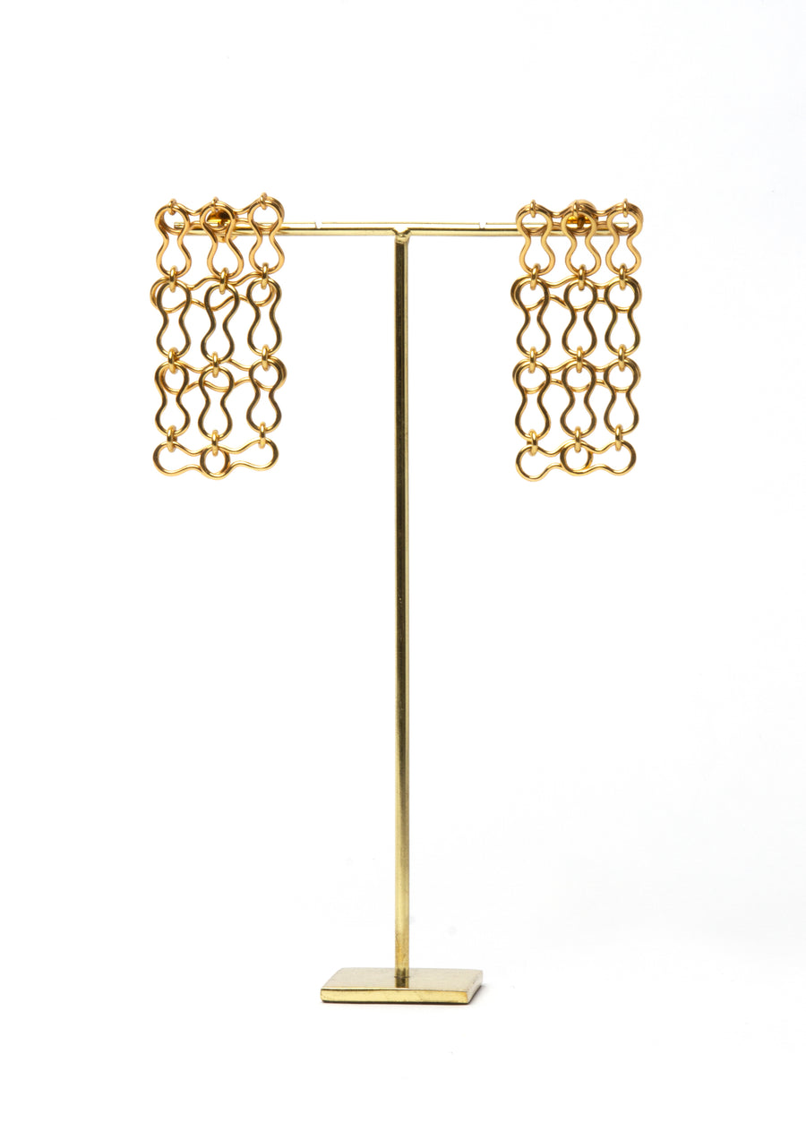Destivelle bean cage earrings