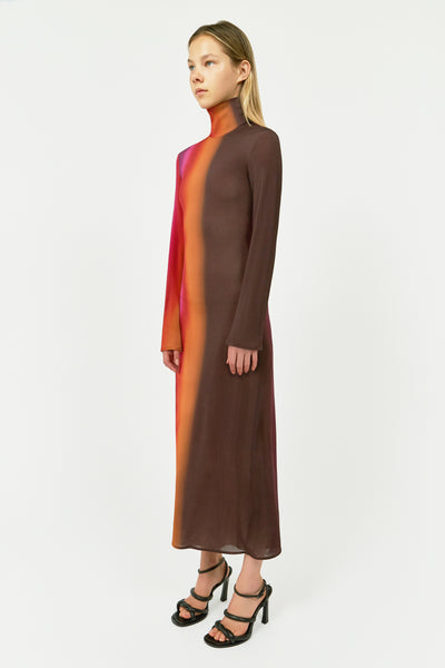 BURGANDY BACH HIGH NECK DRESS WINE
