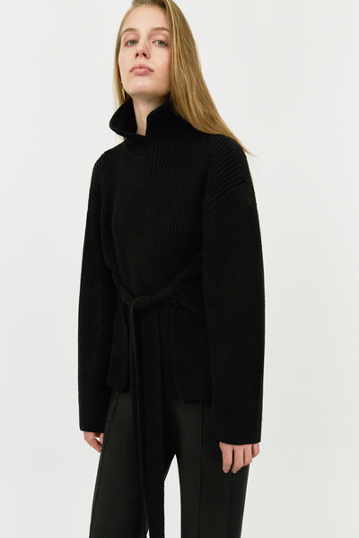 BLACK CAIRS OVERSIZED JUMPER