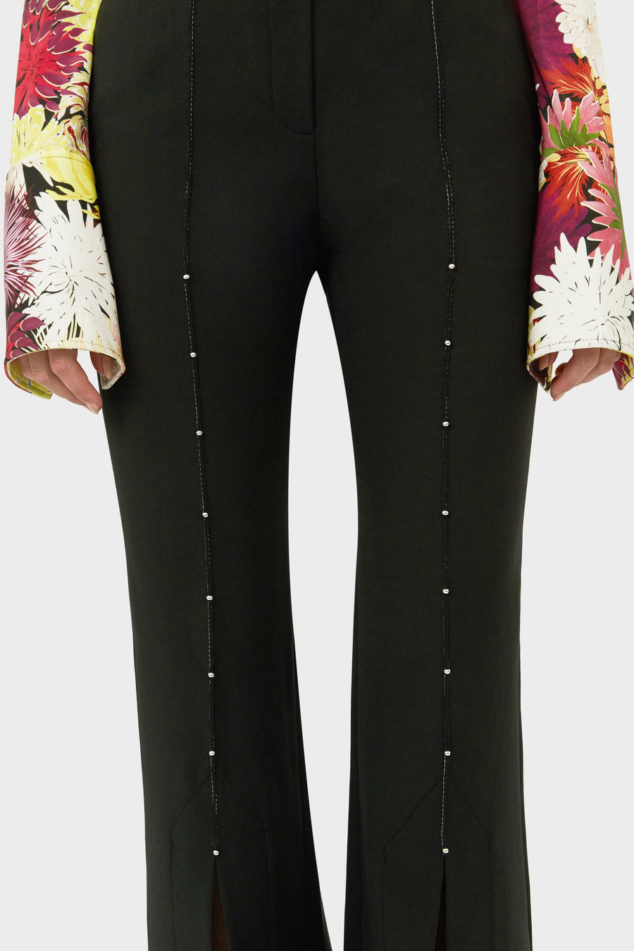 JIMMY SPLIT FRONT EMBELLISHED PANT