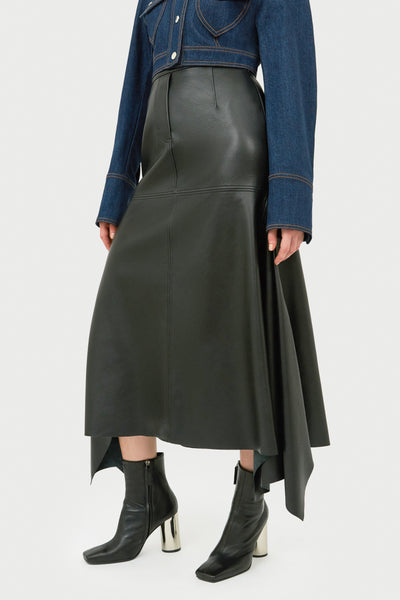RICCARDO PANELLED LONG SKIRT