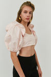 Pink Hilaria Bra With Voluminous Sleeves